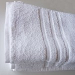 Two jumbo size White Towels bath sheets
