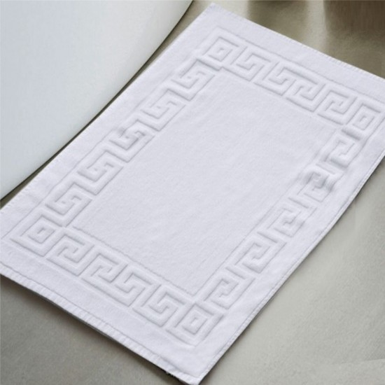 Pack of Two Thick White Bath Mats